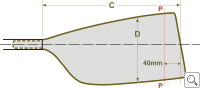 BRAČA-SPORT® Double Wing Blade Dimensions