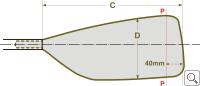 BRAČA-SPORT® Sharp Blade Dimensions